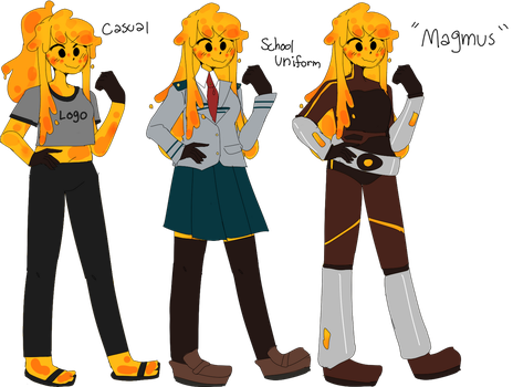 Magumi redesign kinda! by Cybrile