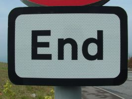 End Road Sign by underitall