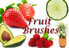 Fruit Clip Art Brushes by fiftyfivepixels