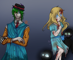 Mr.Fun and Lifeless Lucy {Open Collab} by NightmareQueenKasei