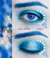 Sailor Mercury Makeup by Lally-Hime