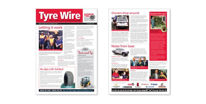 TyreWire Newsletter by frontierdesign