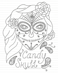 Candy Skull Design by Kezzi-Rose