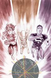 Superboy 5 cover process 3 by manapul