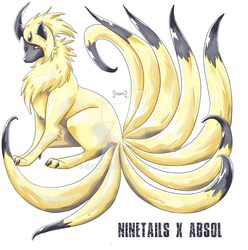 Ninetail X Absol by Seoxys6