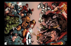 Double Page Marvel Vs Dc by GustavoSantos01
