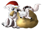 Christmas Pups YCH - Cylithren [3/3] by ObscureShizena