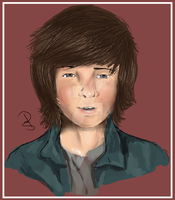 Chandler Riggs by Briggieh