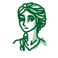 Katniss || Doodle by BonSquiggle