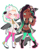 Pearl and marina + speedpaint by spagettibumf