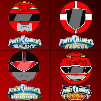 Power rangers helmets in my style part 2 (red) by Badrater