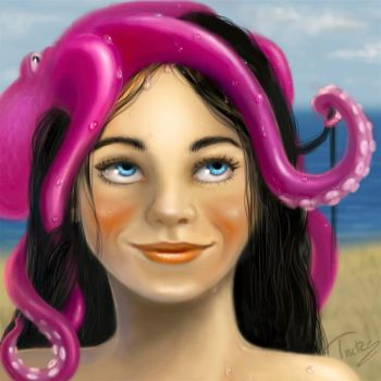 new girl with tentacles by Trutze