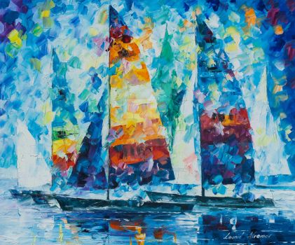 Sailing Fast by Leonid Afremov