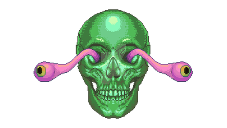 Melty eye skull thing by CharlotteHewins
