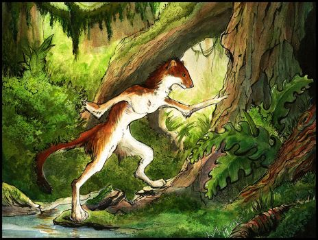 Red Rock Stoat by Ahkward