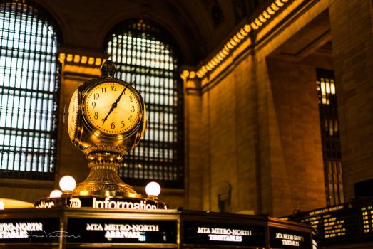 Grand Central Clock by EddieMW
