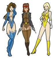 The Three Beauties by Distractthemonster by Knight3000