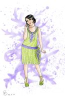 Roaring Twenties Wisteria Dress by Yosephyne