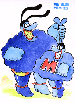 Finktober - The Blue Meanies by TopperHay