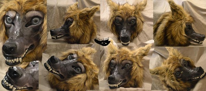 snarly wolf mask 01 by babezord