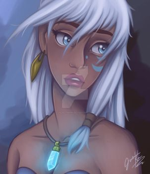 Fan Art of Kida from Disneys Atlantis by JacklynKirk
