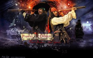 Hector Barbossa and Jack Sparrow. Two captains. by Bormoglot