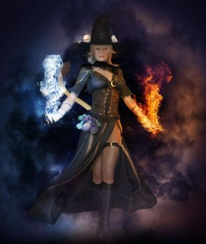 A black mage reborn by EviCore