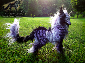 -SOLD-Hand Made Poseable Fantasy Black Berry Wolf! by Wood-Splitter-Lee
