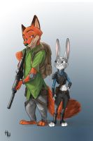 zootopia! nick and judy by a-zack