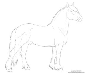 Tyr - lineart free for dA use by SheWolff