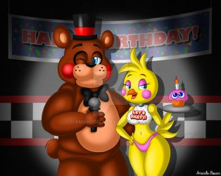 Toy Freddy and Toy Chica by Amanddica