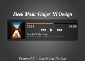 Sleek Music Player UI Design (PSD) by oneandonedesigns