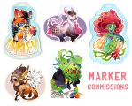 Recent Marker Commissions by ShyCustis