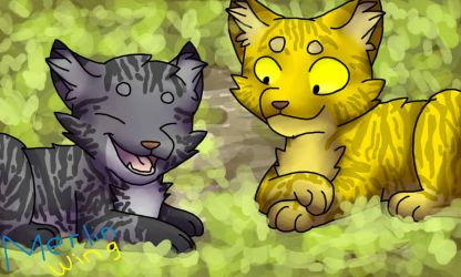 Lionpaw And Jaypaw by MerlinWingOfficial