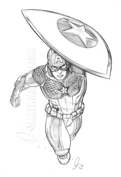 Captain America 003 Small by mikewilsonart
