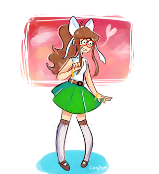 a new outfit for monika by Conjunx