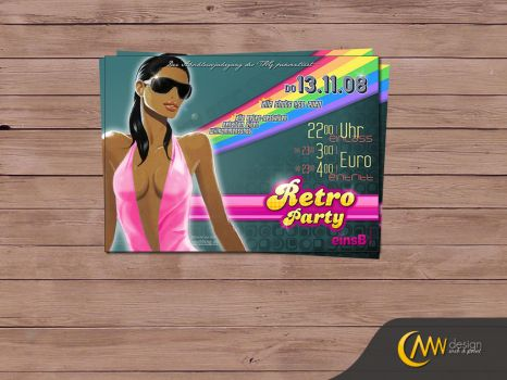 THG Retro Party Flyer by markus-worbs