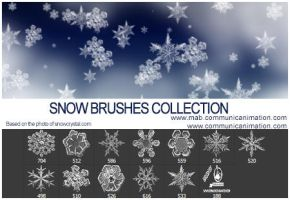 Snow Flakes Brushes by CommunicAnimation