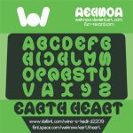 earth heart font by weknow by weknow