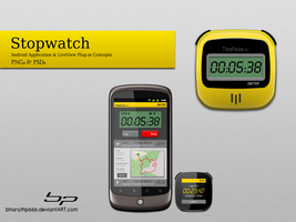 Android: Stopwatch App Concept by bharathp666