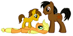 Applejack x Copper: Family by DarthGoldstar710