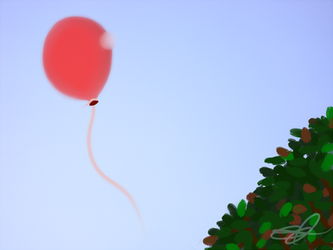 Tree and Balloon by CandlelightReminisce