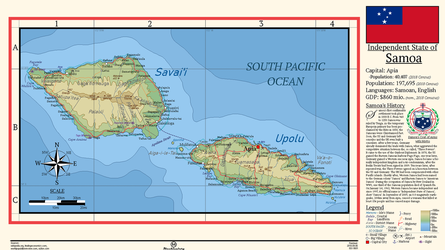 Independent State of Samoa by MecklenburgMaps