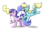 Sea Swirl and Sassaflash's Balloons by timsplosion