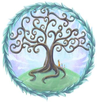 Tree of life with willow leaves by llifi-kei