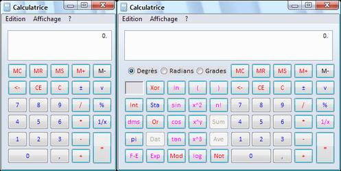 Calc.exe win7 for XP French by Joack