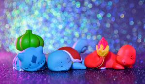 Sleepy Starters! by Aer0HailPhotography