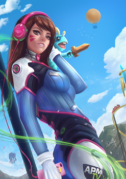 D.Va going to Blizzard World by Nixri
