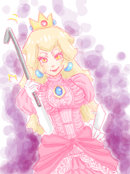 Evil Peach by pi-chi-keen