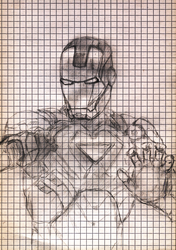 The Iron Man Drawing by sfxdx